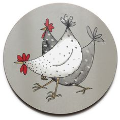 Thick and made to the very best quality, this durable Wacky Chicken trivet by Jersey Pottery is perfect for everyday use.