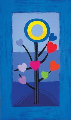 Blue Love tree Silkscreen Print by Sir Terry Frost