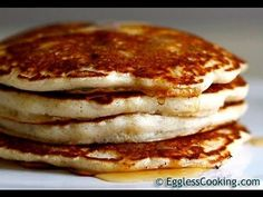 The BEST Eggless Pancakes Recipe & Video | Eggless Cooking