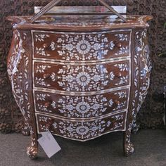 Show details for Style 1578 Syrian chest of drawers inlaid with