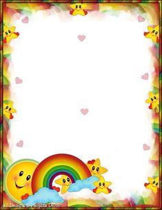 💌Papéis de Carta💌 Boarder Designs, Page Borders Design, Borders For Paper, Borders And Frames, School Border, Printable Border, Free Printable Stationery, Kids Background, School Frame