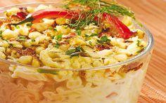 Receta de pastel de maíz y macarrones