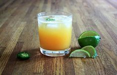 Fresh Peach Jalapeño Margarita  --  To make it non-alcoholic, read comments #'s 14-15 at the bottom of the recipe's page for other recommendations. It's the perfect blend of sweet, peachy, and spicy in a refreshing drink made for summertime.