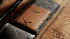hard graft / Premium Leather Bags, Wool Felt Laptop Sleeves, iPad Cases and iPhone Cases / Handcrafted in Italy and Austria / Pocket Phone Case / Heritage for $50-100 on http://dcult.net/LGMBbx