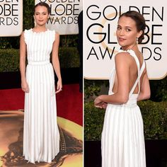 Alicia Vikander - Vestido Louis Vuitton - Golden Globes Awards 2016