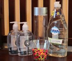 Slow-Falling Beads Sensory Bottle. Great to help students calm down.