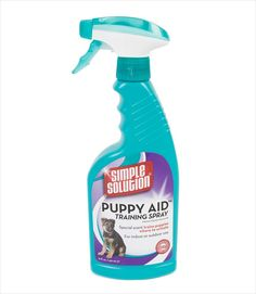 Housetraing dogs is a whole lot easier when you use Simple Solution's Puppy Aid Training Spray. The specifically formulated scent attracts puppies and dogs to the area sprayed and triggers their natur