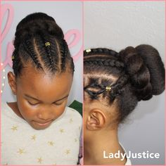 Bun and braids. Full tutorial is linked