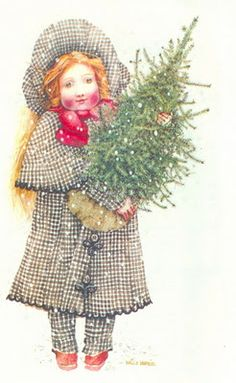 Holly Hobbie / Christmas Card Art - Postcard - Posters