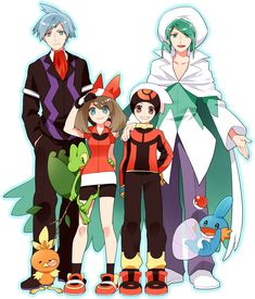 This one is so cute. Not the people, but the Pokémon.