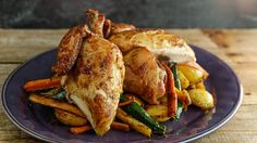 Brined Roasted Chicken and Vegetables Recipe