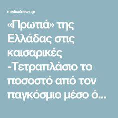 «Πρωτιά» της Ελλάδας στις καισαρικές -Τετραπλάσιο το ποσοστό από τον παγκόσμιο μέσο όρο – medicalnews.gr