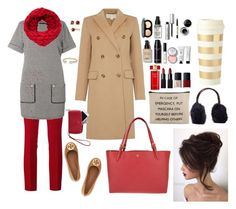 """""""Beige, Black, Gold, And Red"""" by e-atha on Polyvore featuring Gucci, Dorothy Perkins, Michael Kors, Tory Burch, Estée Lauder, Bobbi Brown Cosmetics, NARS Cosmetics, Mark & Graham, David Yurman and Brooks Brothers"""