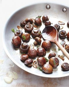 Sauteed Mushrooms with Herbs Recipe. Thanksgiving recipes that we love! Get the coupons for all of the ingredients on Coupon Mom. #Coupons #Thanksgiving #Recipes #Food #Deal
