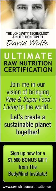 David Wolfe's Raw Nutrition Certification  http://bodymindinstitute.com/affiliate/scripts/click.php?a_aid=10