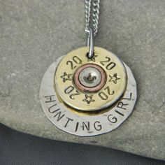 Hunting Girl Bullet Necklace, Wire-N-Whimsy