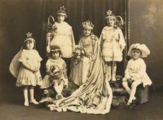 Digital Photograph - Children in Costume for Queen's Parade, St Andrews School, Werribee, circa 1924 Vintage Children Photos, Vintage Photos, St Andrews School, Queen Victoria Descendants, Primary School, Photograph, Poses, Costumes, Black And White