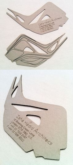 Unusually Shaped Laser Cut And Etched Business Card For An Architect