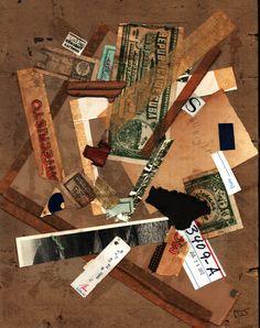 paper on cardboard collage by Donnas Schaeffer