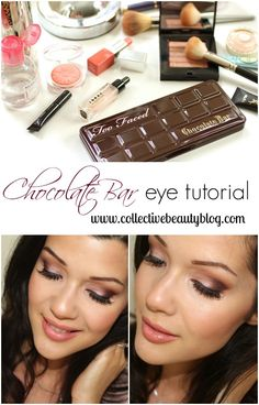 Too Faced Chocolate Bar Palette Chocolate Bar Makeup, Chocolate Bar Palette Looks, Chocolate Bar Too Faced, Chocolate Bar Eyeshadow, Chocolate Bars, Glam Makeup, Pretty Makeup, Eyeshadow Makeup, Makeup Tips
