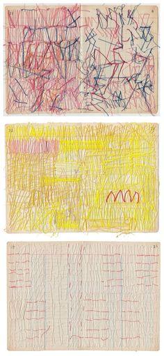 sleaterkittey: Sharon Etgar - Thread drawings