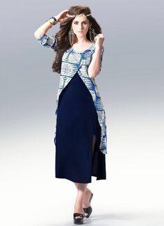 Beautious Blue Casual Wear Kurti