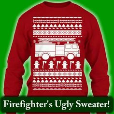 Firefighter Ugly Christmas Sweater | Firefighter and Ugliest ...