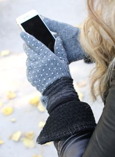Dress your cute little hands in pure luxury this fall and winter with our amazing cashmere touch screen gloves! Made with cashmere and mink fur, with a soft knitted material around the wrist ......they are sure to complete your stylish look! These high quality gloves will keep your hands and fingers cozy and warm while allowing you to use your smart phone and tablets at the same time! Made out of 80% cashmere and 20% cotton.One size fits most. Touch screen compatible ...