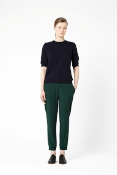 Elastic ankle trousers