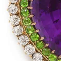 1STDIBS.COM Jewelry & Watches - British Suffragette Colors Multi-Gem Brooch and Pendant - A La Vieille Russie