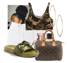 """""""Untitled #5"""" by beebee279 on Polyvore featuring Topshop, Boohoo, Essie, Charlotte Tilbury, MAC Cosmetics, Louis Vuitton, Puma and Lydell NYC"""