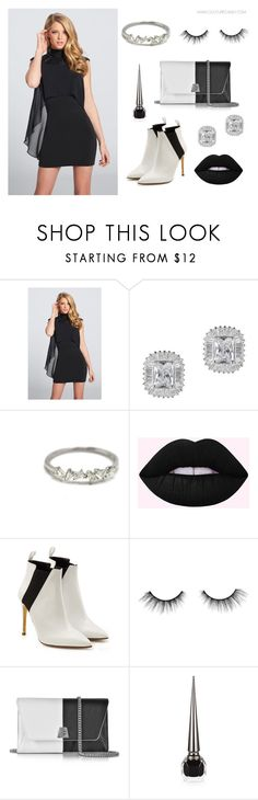 """Black & White Mood"" by couturecandy on Polyvore featuring Rupert Sanderson, tarte, Akris and Privé"