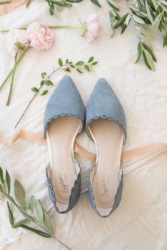 f8d6e30d75e Dusty blue wedding flats Flat Wedding Shoes