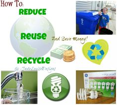 Discover easy ways to Reduce Reuse Recycle and Save Money for your Family #GELighting #cbias #ad