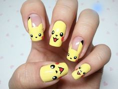 Nail art de Pikachu