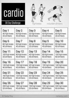30 day #Cardio Challenge!