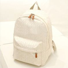 New Arrive Women Lace Backpacks School Bags Travel bags Students Canvas Backpack women Shoulder Bags Campus Bag