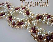 PDF beaded bracelet EKATERINA beading pattern by BeadsMadness - smuk halskæde… Beaded Bracelets Tutorial, Beaded Bracelet Patterns, Beading Patterns, Beading Tutorials, Seed Bead Necklace, Beaded Earrings, Seed Beads, Crochet Necklace, Flip Flops