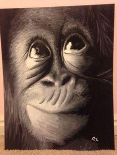 Monkey (oil paint)