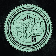 Bigfoot & Friends Apparel by Jill De Haan monster type graphic t-shirt badge hand lettering design logo - super cool Graphic Design Typography, Graphic Design Illustration, Branding Design, Logo Design, Typography Layout, Typography Letters, Calligraphy Types, Round Logo, Graphic Design Inspiration