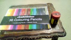 February 16th - something new. Coloured pencils and sharpener.