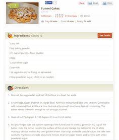 Homemade funnel cakes Homemade Funnel Cake, Funnel Cakes, Entrees, Baking, Vegetables, Food, Meal, Patisserie, Backen