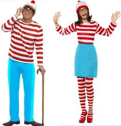 Where's Wally & Wenda Combination [GIO67421] - £40.99 : Get It On Fancy Dress Superstore, Fancy Dress & Accessories For The Whole Family. http://www.getiton-fancydress.co.uk/adults/couplescostumes/whereswallywendacombination#.UngupFOnIYI