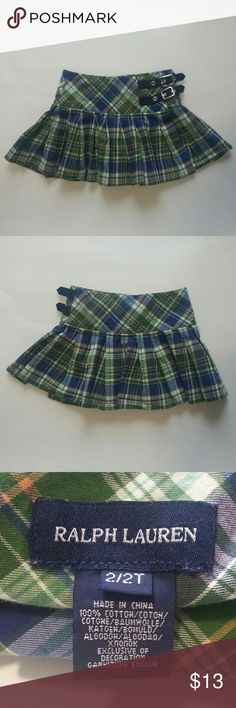 Ralph Lauren Girls Toddler Wrap Skirt Multi-Color Pre-owned Ralph Lauren Skirt: 2/2T, Wrap, Multi-Color, Pleated w/Buckle & Clasp Closure. Normal wear--appears to be no visible/major flaws. Bottoms Skirts