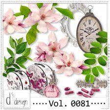 Vol. 0081- Floral Mix  by Doudou's Design  #CUdigitals cudigitals.com cu commercial digital scrap #digiscrap scrapbook graphics