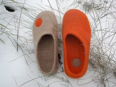 Slippers by little wooly sheep on etsy
