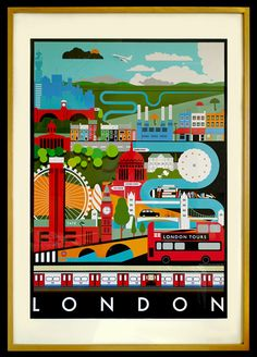 London Print Limited Edition A1 Lithograph. $95