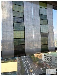 역시 여름은 모시의 계절인가봅니다. 주문도 모시, 개인 작업도 모시, 수업내용도 모시.... 모시를 주문해... Patchwork Curtains, Fiber Art Quilts, Fabric Board, My House Plans, Textiles, Window Hanging, Sewing Art, Fabric Textures, Window Coverings