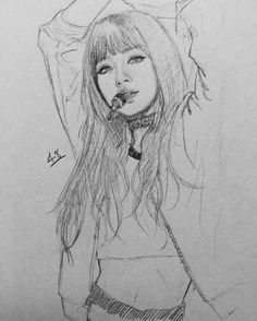 New Art Sketches Hipster Dog, Sketch Painting, Drawing Sketches, Kpop Drawings, Wow Art, Kpop Fanart, Beauty Art, K Pop, Traditional Art