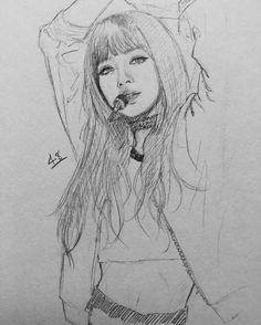 Si no quieres que publiqué tu pin dímelo y lo borró Kpop Drawings, Kpop Fanart, Pencil Art, Pencil Drawings, K Pop, Crayon, Traditional Art, Drawing Sketches, Art Girl